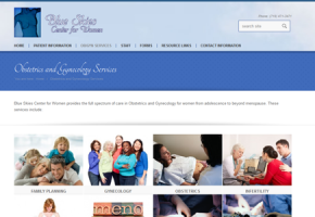 Blue Skies Center for Women Updated to a Responsive Site