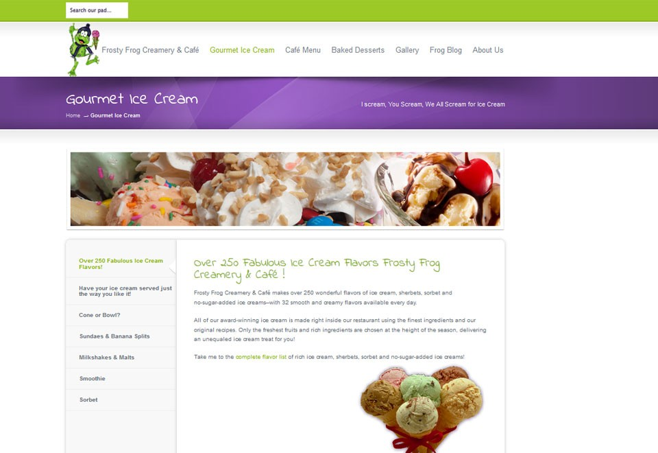 Frosty Frog Creamery & Cafe - www.frostyfrogcreamery.com