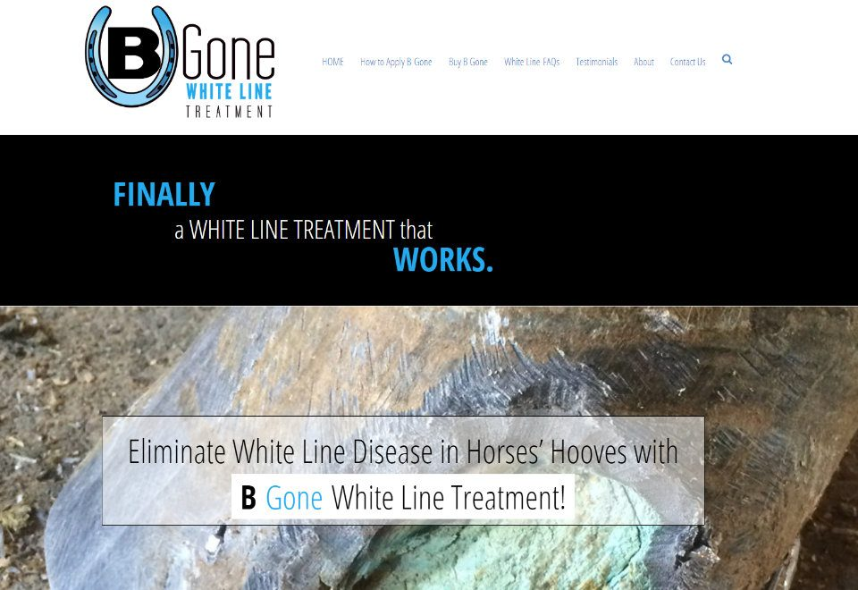 B Gone White Line Treatment - www.bgonewhiteline.com