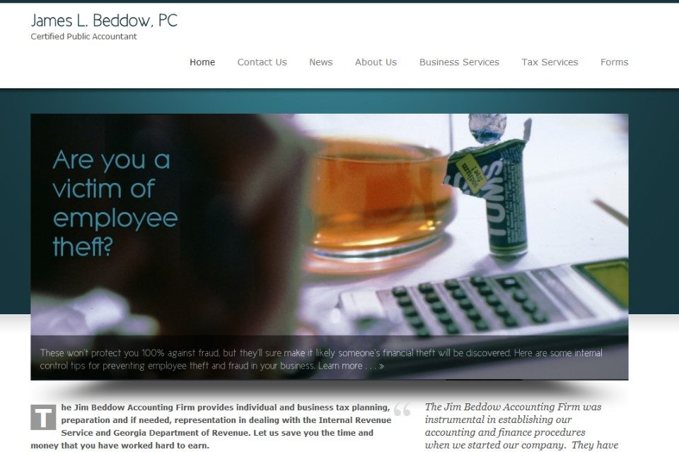 Accounting website example